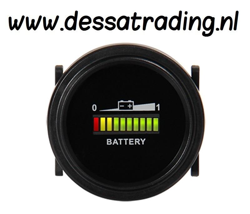 Ronde Accu Indicator Inbouw 2 Inch 12v 24v 36v 48v 72v 24 95